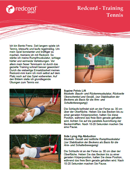 Trainingsprogramm Redcord Sport Tennis